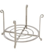 Large Serving Stand and Plate Holder - Nickel