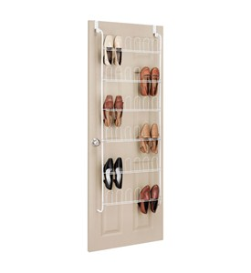 Over the Door Shoe Rack - White Image