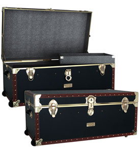 Vintage 36 inch Steamer Trunk With Tray Image