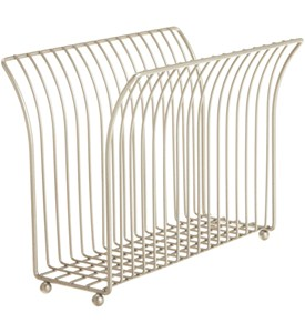 Free Standing Magazine Rack - Satin Nickel Image