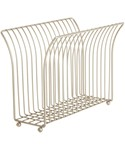 Free Standing Magazine Rack - Satin Nickel