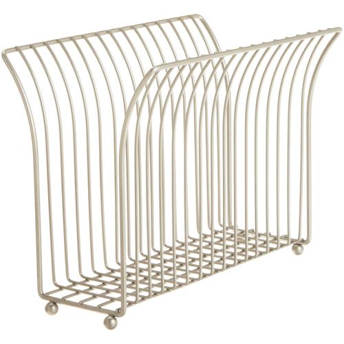 Free Standing Magazine Rack   Satin Nickel