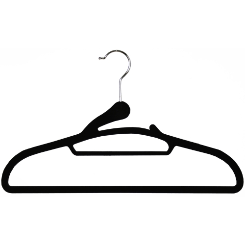 Soft Grip Flocked Hangers - Set of 8 Image
