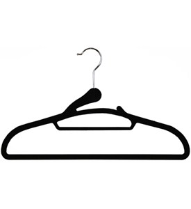 Soft Grip Flocked Hangers (Set of 8) Image