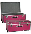 Collegiate Wheeled Storage Trunk - Pink