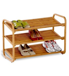 Bamboo Shoe Rack - 3 Tier Image