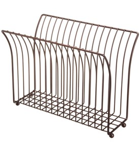 Free Standing Magazine Rack - Oil Rubbed Bronze Image