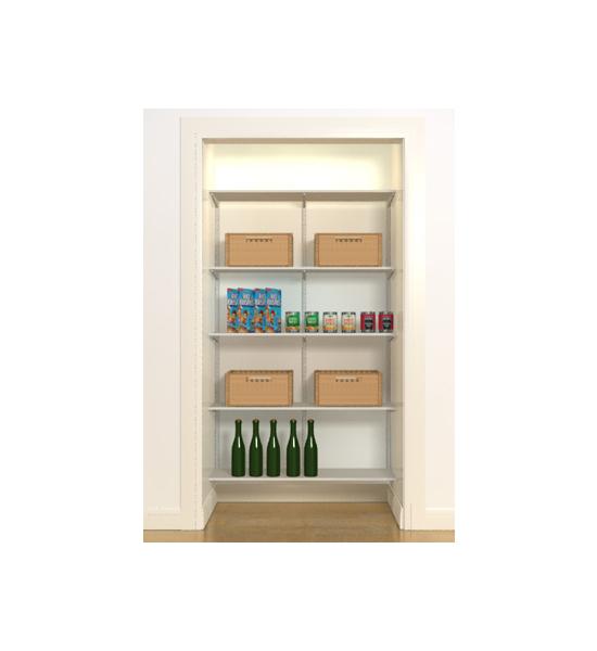 Pantry Shelves Starter Kit: FreedomRail Wire Pantry Starter Closet In Pre-Designed