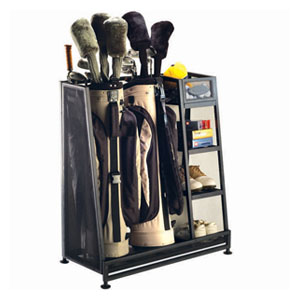 Golf organizers and storage racks at Organize It