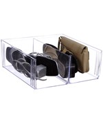 Crystal Clear Shoe Storage Bin