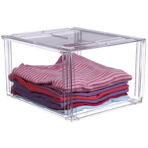 Crystal Clear Clothing Storage Bin Image