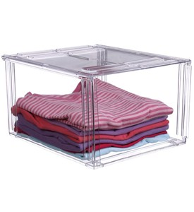 Crystal Clear Clothing Storage Bin Image