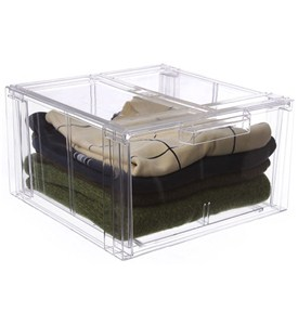 Crystal Clear Clothing Storage Drawer - Large Image
