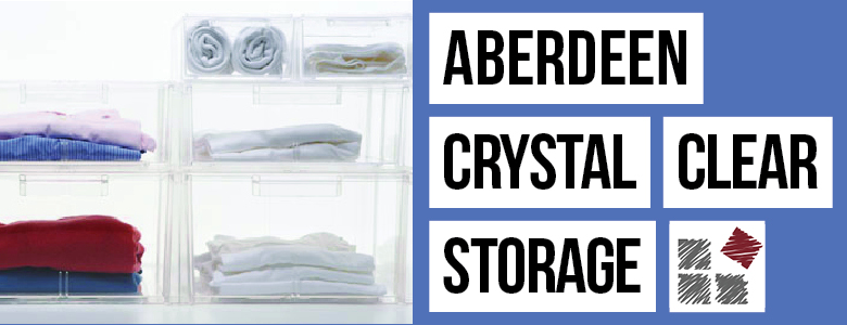 Crystal Clear Storage from Aberdeen Plastics