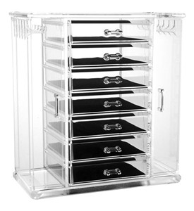 Acrylic Jewelry Chest and Necklace Holder Image