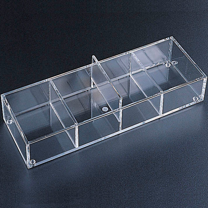 Acrylic Drawer Organizer 4 Sections In Drawer Bins