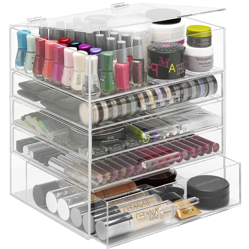 Acrylic Organizer with Drawers in Cosmetic Organizers