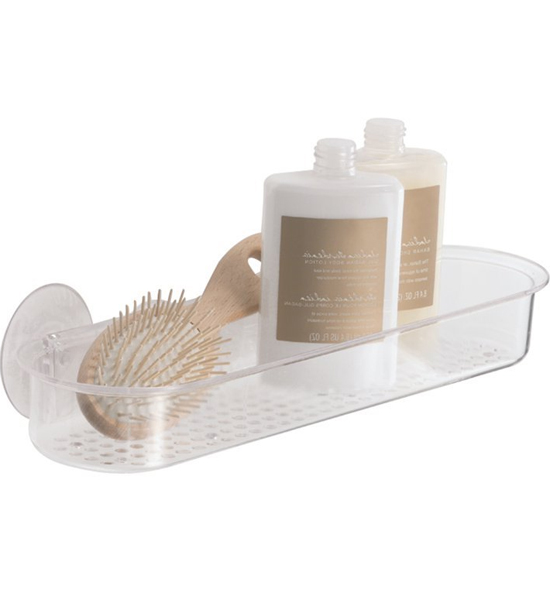 Acrylic Suction Shower Shelf In Suction Organizers