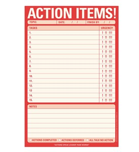 Action Items - Notepad Image