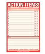 Action Items - Notepad