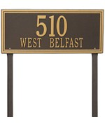 Estate Lawn Address Plaque - Double Line