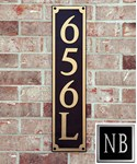 Squared Address Plaque Personalized by Dekorra