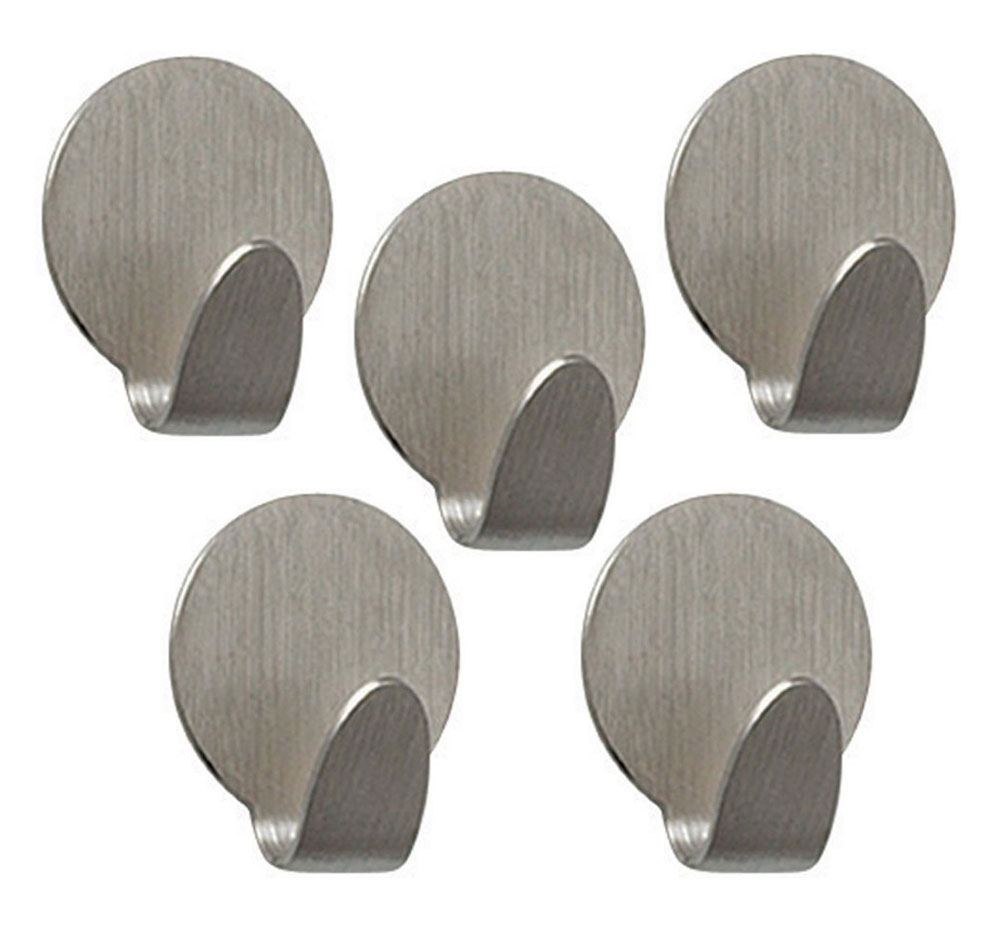Adhesive Hooks Set Of 5 In Wall Hooks