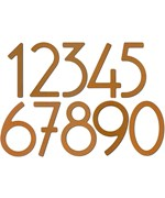 Adhesive House Numbers - 5 Inch