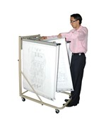 Adir Vertical File Rolling Stand for Blueprints