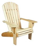 Adirondack Chair and Ottoman - Large - Each Sold Separately by Rustic Natural Ceder