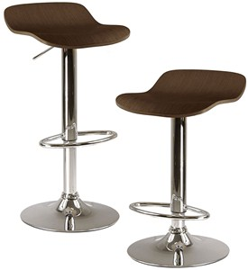 Adjustable Bar Stools - Cappuccino (Set of 2) Image