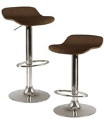 Adjustable Bar Stools - Cappuccino