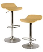 Adjustable Bar Stools - Natural