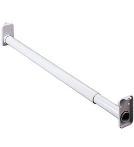 Adjustable Closet Rod - White Image