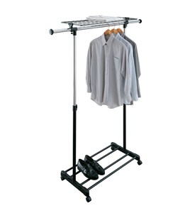 Adjustable Rolling Clothing Rack Image