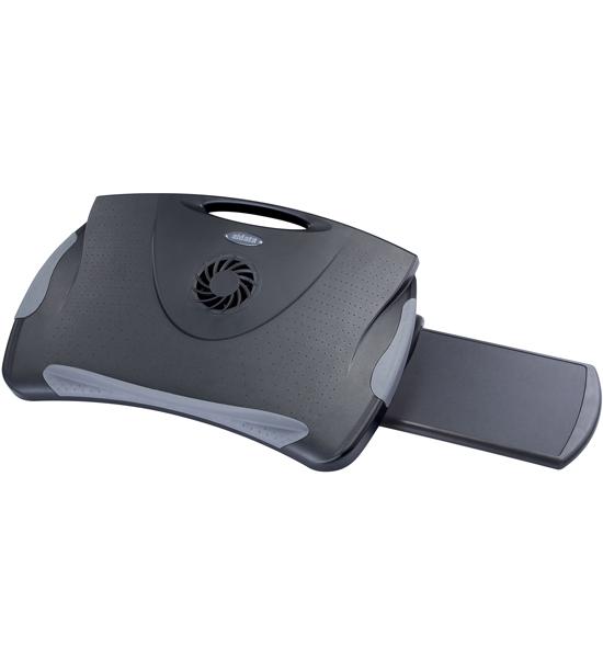Adjustable Laptop Lap Desk With Cooling Fan In Lap Desks