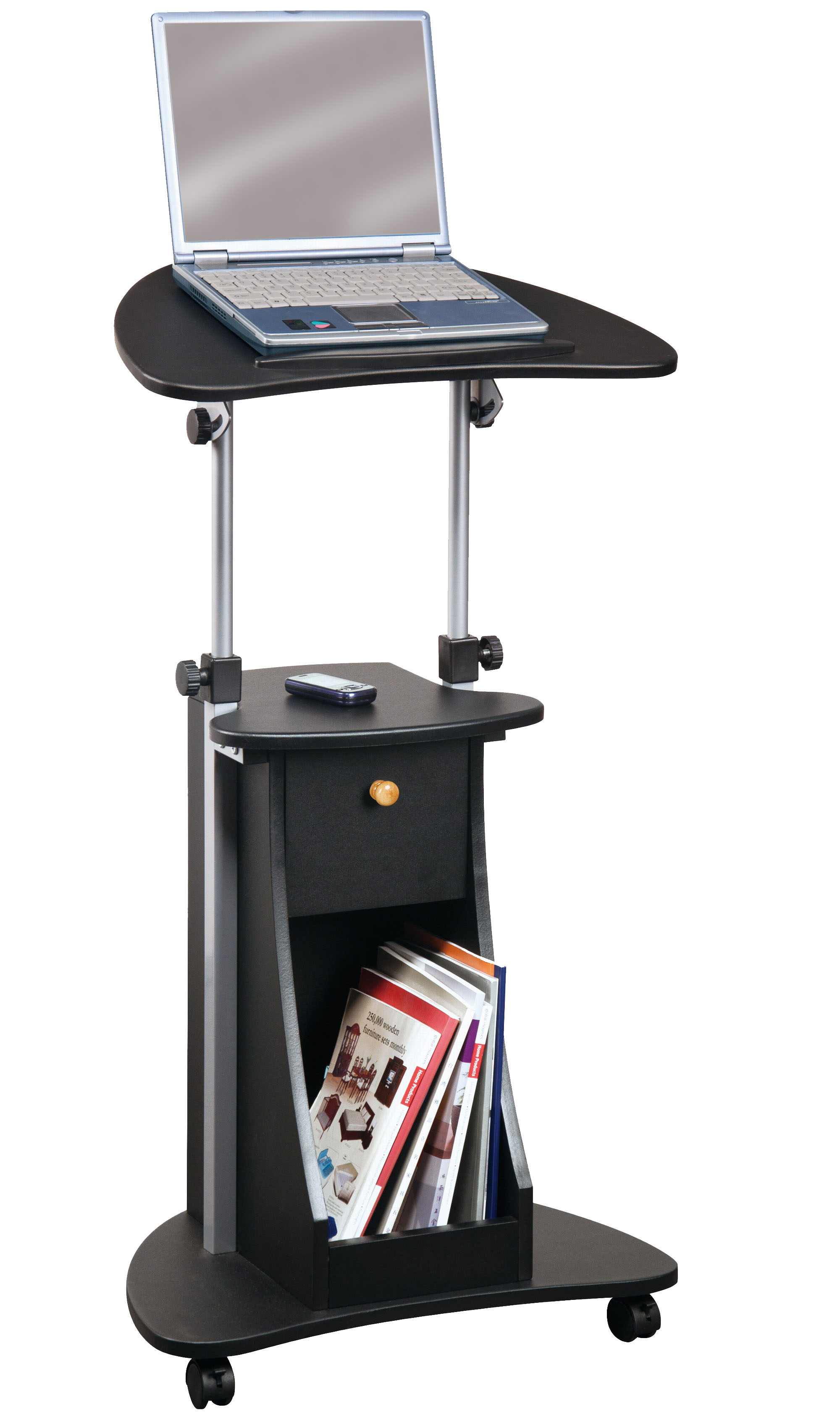 Computer and Laptop Carts Rolling Laptop Desk OrganizeIt