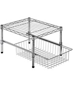 Adjustable Shelf and Basket Organizer