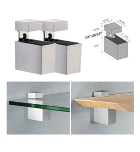 Adjustable Shelf Brackets - Metal Rectangles Image