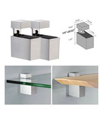 Adjustable Shelf Brackets - Metal Rectangles