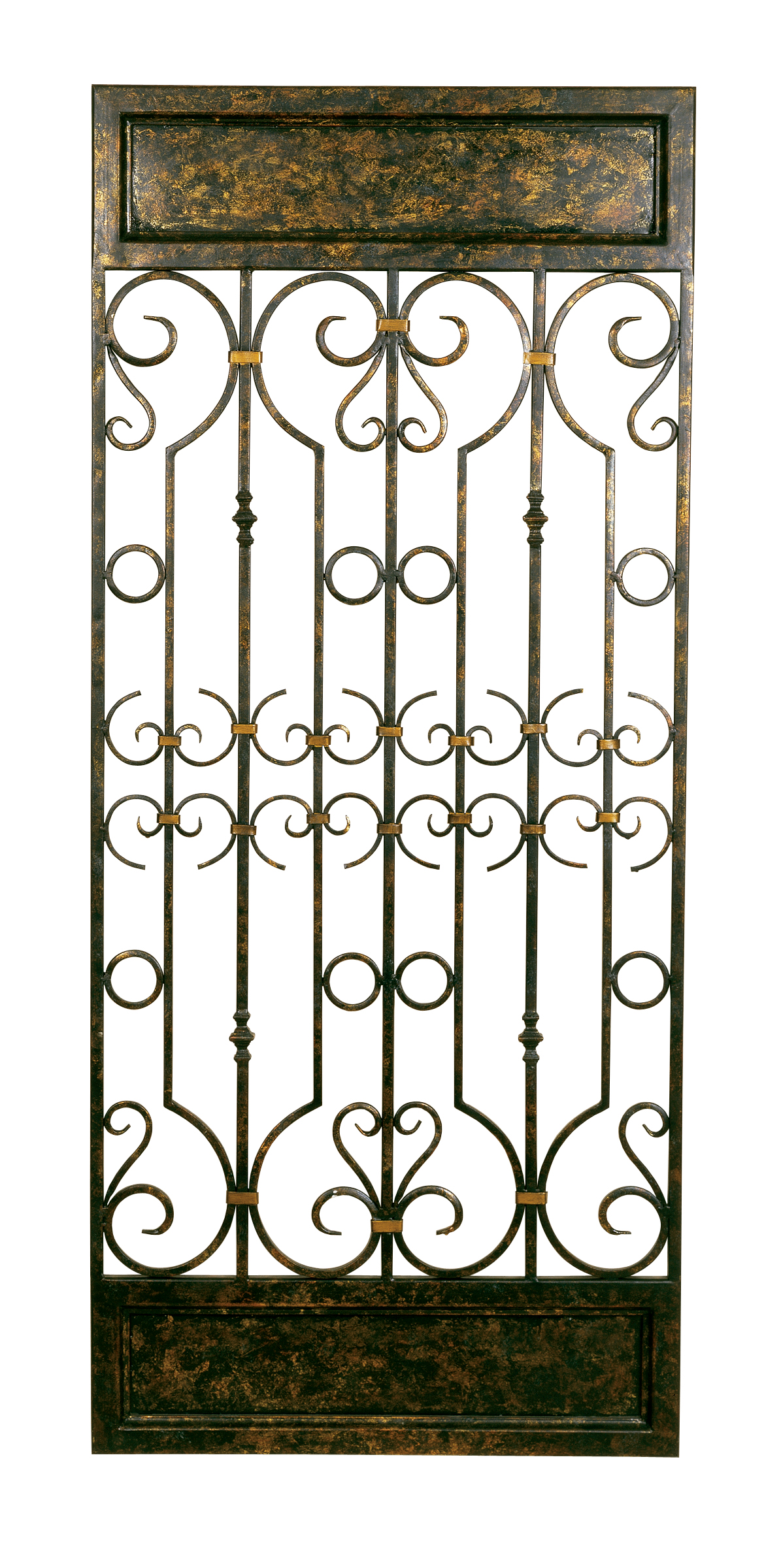 Metal Gate Wall Art Metal Wall Decor In Aged Bronzepassport In Metallic Wall Art