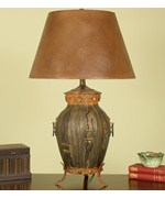 Aged Bronze Urn Footed Table Lamp by Passport