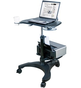 Aidata Adjustable Laptop Desk with Printer Tray Image