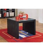 Alex Coffee Table with Glass Top - Contemporary Style