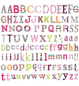 Alphabet Wall Decals (Set of 110) Image