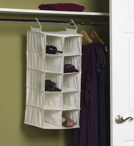 ... Hanging Closet Shoe Organizer Image. Click Any Image To View In High  Resolution