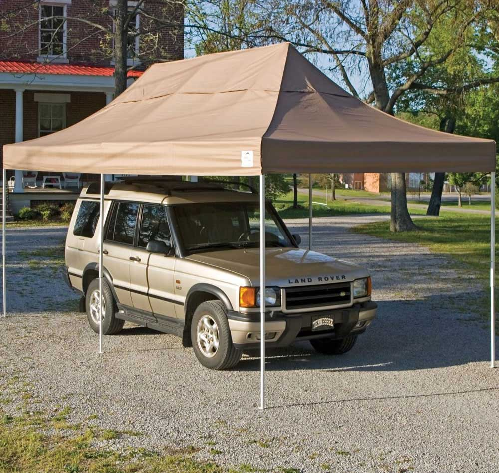 Click any image to view in high resolution & ShelterLogic 10 x 20 Pop Up Carport in Canopies