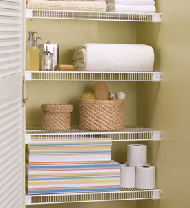 Lifetime Ventilated White Wire Closet Shelving