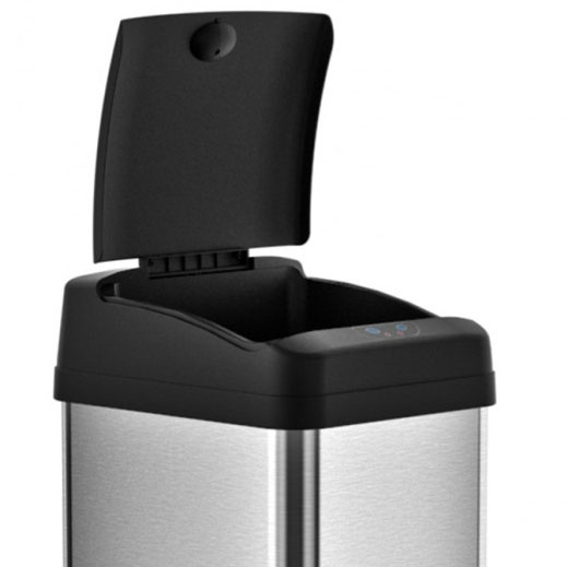 13 Gallon Square Trash Can in Kitchen Trash Cans