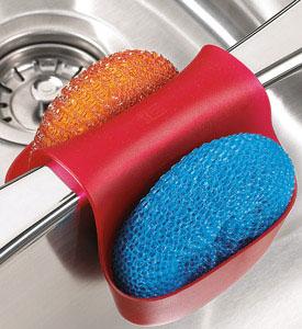 Kitchen Sink Sponge Holder sink sponge holder - red in sink organizers